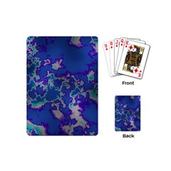 Unique Marbled Blue Playing Cards (mini)