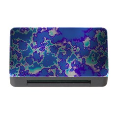 Unique Marbled Blue Memory Card Reader With Cf