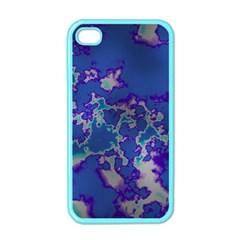 Unique Marbled Blue Apple Iphone 4 Case (color)