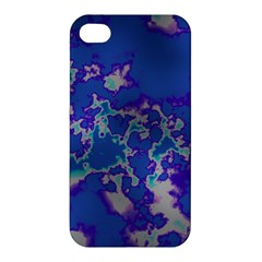 Unique Marbled Blue Apple Iphone 4/4s Hardshell Case