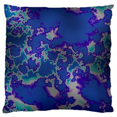 Unique Marbled Blue Large Cushion Cases (two Sides)