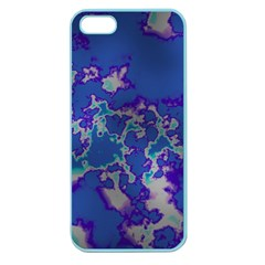 Unique Marbled Blue Apple Seamless Iphone 5 Case (color)
