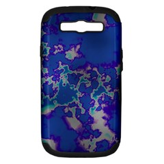 Unique Marbled Blue Samsung Galaxy S Iii Hardshell Case (pc+silicone)
