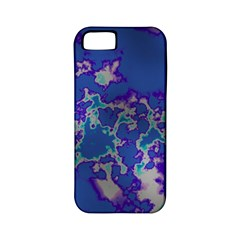 Unique Marbled Blue Apple Iphone 5 Classic Hardshell Case (pc+silicone)