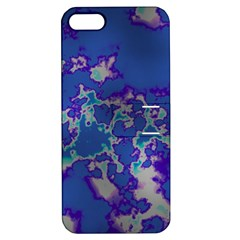 Unique Marbled Blue Apple Iphone 5 Hardshell Case With Stand