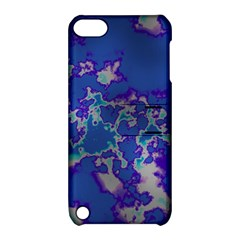 Unique Marbled Blue Apple Ipod Touch 5 Hardshell Case With Stand