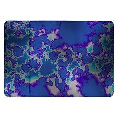 Unique Marbled Blue Samsung Galaxy Tab 8 9  P7300 Flip Case