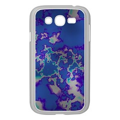 Unique Marbled Blue Samsung Galaxy Grand DUOS I9082 Case (White)