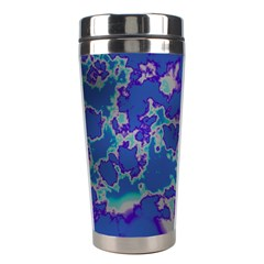 Unique Marbled Blue Stainless Steel Travel Tumblers