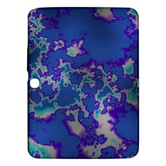 Unique Marbled Blue Samsung Galaxy Tab 3 (10 1 ) P5200 Hardshell Case