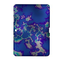 Unique Marbled Blue Samsung Galaxy Tab 2 (10 1 ) P5100 Hardshell Case
