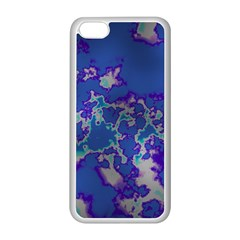 Unique Marbled Blue Apple Iphone 5c Seamless Case (white)