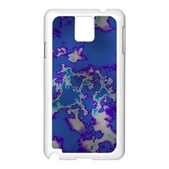 Unique Marbled Blue Samsung Galaxy Note 3 N9005 Case (white)