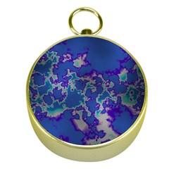 Unique Marbled Blue Gold Compasses