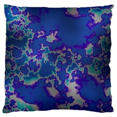 Unique Marbled Blue Large Flano Cushion Cases (one Side)