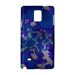 Unique Marbled Blue Samsung Galaxy Note 4 Hardshell Case
