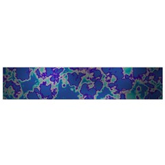 Unique Marbled Blue Flano Scarf (small)