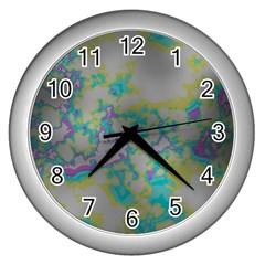 Unique Marbled Candy Wall Clocks (Silver)