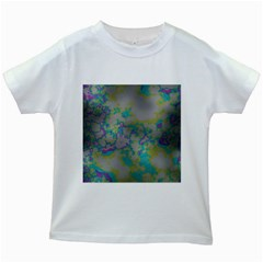 Unique Marbled Candy Kids White T-Shirts