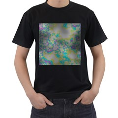 Unique Marbled Candy Men s T Shirt (black) (two Sided)