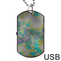 Unique Marbled Candy Dog Tag USB Flash (One Side)