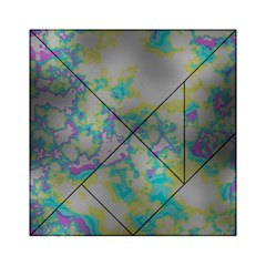 Unique Marbled Candy Acrylic Tangram Puzzle (6  x 6 )