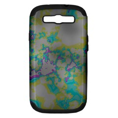 Unique Marbled Candy Samsung Galaxy S III Hardshell Case (PC+Silicone)