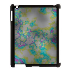 Unique Marbled Candy Apple iPad 3/4 Case (Black)