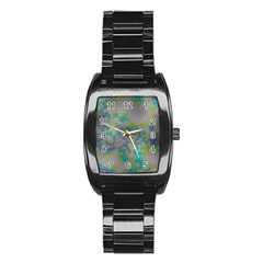 Unique Marbled Candy Stainless Steel Barrel Watch
