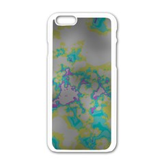 Unique Marbled Candy Apple iPhone 6/6S White Enamel Case