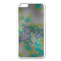 Unique Marbled Candy Apple iPhone 6 Plus/6S Plus Enamel White Case