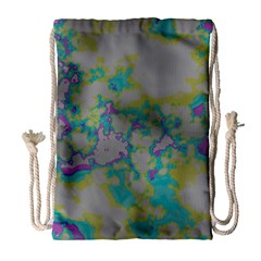 Unique Marbled Candy Drawstring Bag (Large)