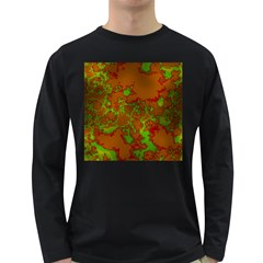Unique Marbled Hot Long Sleeve Dark T Shirts