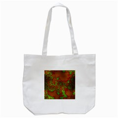 Unique Marbled Hot Tote Bag (White)