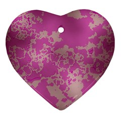 Unique Marbled Pink Ornament (Heart)
