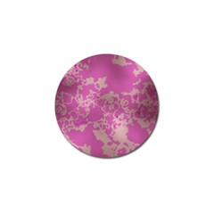Unique Marbled Pink Golf Ball Marker