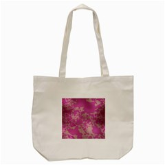 Unique Marbled Pink Tote Bag (Cream)