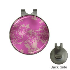 Unique Marbled Pink Hat Clips with Golf Markers