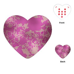 Unique Marbled Pink Playing Cards (heart)