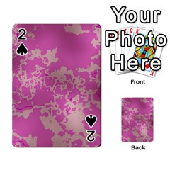Unique Marbled Pink Playing Cards 54 Designs