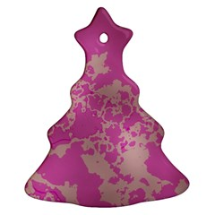 Unique Marbled Pink Ornament (christmas Tree)