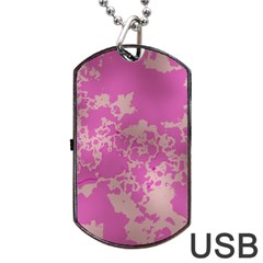 Unique Marbled Pink Dog Tag Usb Flash (two Sides)
