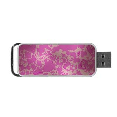 Unique Marbled Pink Portable USB Flash (One Side)