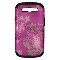 Unique Marbled Pink Samsung Galaxy S III Hardshell Case (PC+Silicone)