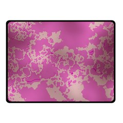 Unique Marbled Pink Double Sided Fleece Blanket (Small)