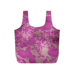 Unique Marbled Pink Full Print Recycle Bags (S)