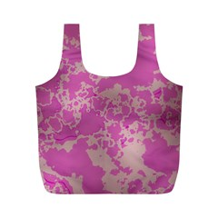 Unique Marbled Pink Full Print Recycle Bags (M)