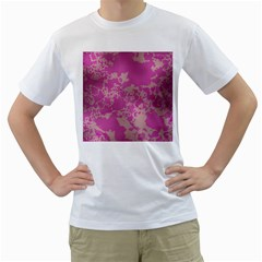 Unique Marbled Pink Men s T Shirt (white)