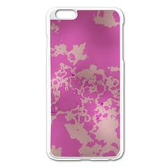 Unique Marbled Pink Apple iPhone 6 Plus/6S Plus Enamel White Case