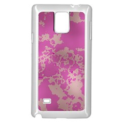 Unique Marbled Pink Samsung Galaxy Note 4 Case (White)